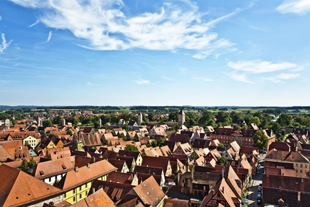 middleages: romantic Dinkelsb�hl, city of late middleages and timbered houses