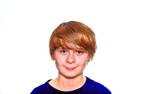 portrait of a cute young boy photo