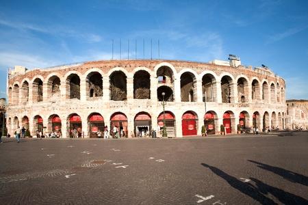 famous arena di Verona, the old roman amphi theater photo