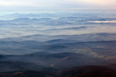Austria, aerial view of the  Alps Stock Photo - 9345135