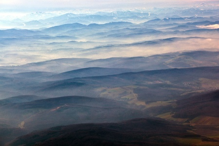 Austria, aerial view of the  Alps photo