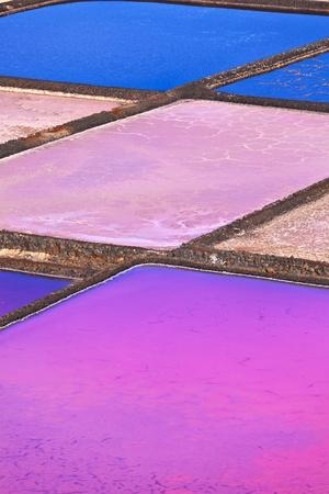 lanzarote: Zout raffinaderij, Zout van Janubio, Lanzarote, Spanje