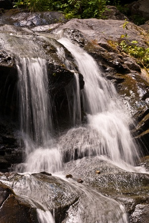 beautiful natural waterfall in National Park photo