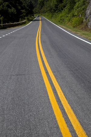 winding: Beautiful scenic country road curves through Shenandoah  National Park.