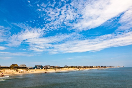 outer banks: beautiful beach at the outer banks in america