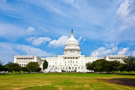 state election: US Capitol in Washington DC Stock Photo