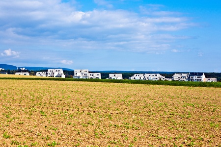 settlement near the edge of the beautiful field Stock Photo - 9379487