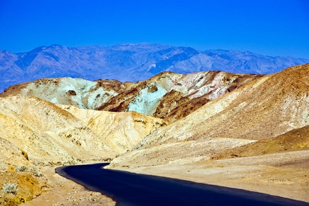 death valley: Artists Drive road, Death Valley National Park