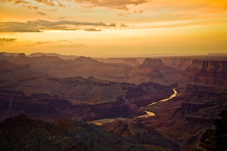 Sunset at the Grand Canyon seen from Desert View Point, South Rim photo