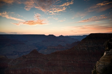 south rim: Sunrise at Grand Canyon seen from Mathers Point, South rim