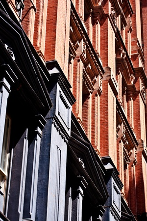 facade at old houses downtown in New York Stock Photo - 9400229