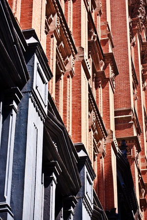 facade at old houses downtown in New York Stock Photo - 9400218