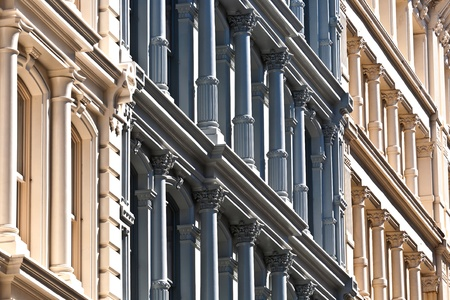 facade at old houses downtown in New York Stock Photo - 9400210
