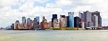 허드슨 강 맨하탄 스카이 함께 뉴욕시 파노라마