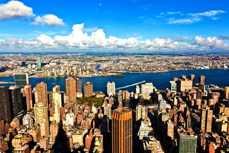view from Empire state building to New York Stock Photo - 9400321
