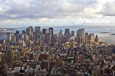 view over Manhattan and skyscraper in New York photo