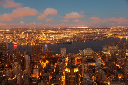 New York in the late evening from Empire State Building photo
