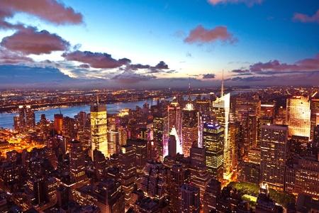 New York am späten Abend vom Empire State Building