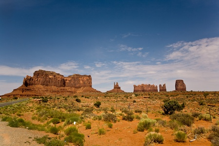 soil erosion: The King on his Throne is a giant sandstone formation in the Monument valley Stock Photo