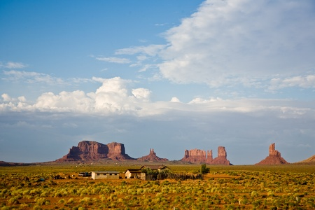 giant sandstone formation in the Monument valley photo