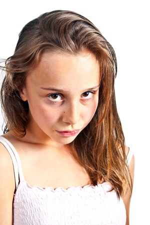 portrait of cute young teenage girl Stock Photo - 9444462