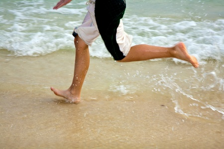 feet on the beautiful sandy beach Stock Photo - 9583329
