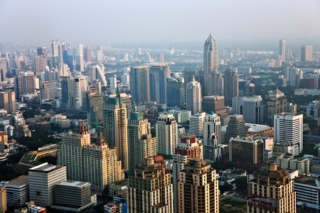 View across Bangkok skyline showing office blocks and condominiums Stock Photo - 9583388