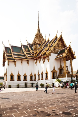Phra Tinang Aporn Phimok Prasat Pavillion in the Grand Palace in Bangkok photo