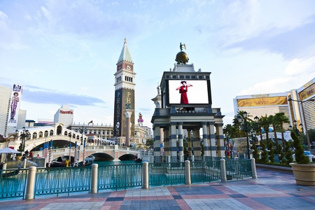 LAS VEGAS - JUNE 4: The Venetian Resort Hotel & Casino on July 17, 2008. The resort opened on May 3, 1999 with flutter of white doves, sounding trumpets, singing gondoliers and actress Sophia Loren. Stock Photo - 9475209