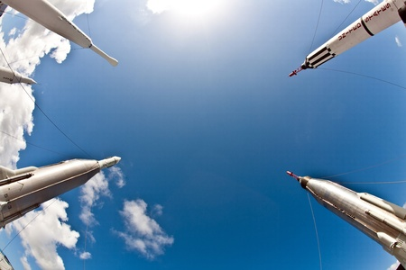 ORLANDO, USA - JULY 25: The Rocket Garden at Kennedy Space Center features 8 authentic rockets from past space explorations on July 25, 2010 in Orlando, USA. Stock Photo - 9475197