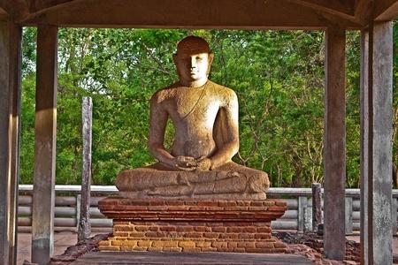 buddah: Samadhi Buddah Statue, meditating Buddah, beauty and holiness, Sri Lanka Stock Photo