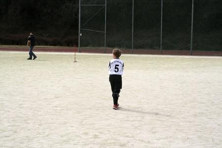 HATTERSHEIM, GERMANY - MAR 18: Football game Children E-Class BSC Schwalbach against FC Hattersheim , March 18, 2006 in Hattersheim, Germany Stock Photo - 9500741