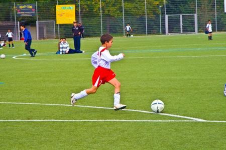 sg: SCHWALBACH, GERMANY - JUNE 02: Football Tournament, BSC Schwalbach CUP, game Children E-Class Tournament - BSC Schwalbach - SG Kelkheim , June 02,2007 in Schwalbach, Germany