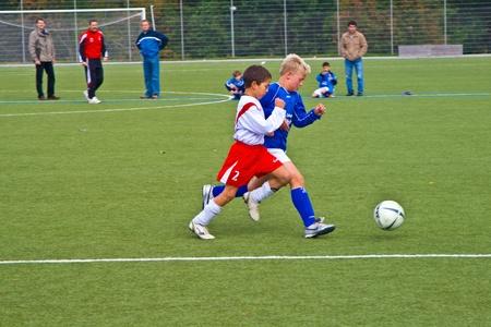 SCHWALBACH, GERMANY - JUNE 02: Football Tournament, BSC Schwalbach CUP, game Children E-Class Tournament - BSC Schwalbach - SG Kelkheim , June 02,2007 in Schwalbach, Germany