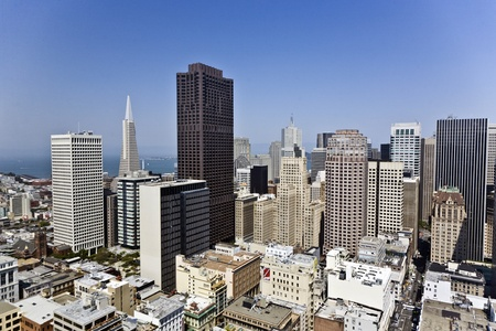 サンフランシスコ、アメリカ合衆国 - 7 月 7 日: 屋上からの眺め San Francisco の市内に 7 月、07,2008、San Francisco、アメリカ合衆国