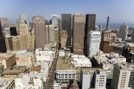 SAN FRANCISCO, USA - JULY 07: view from the rooftop to the city of San Francisco on July, 07,2008, San Francisco, USA