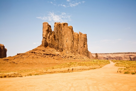 butte: Monument Valley, beautiful sandstone rock Camel Butte