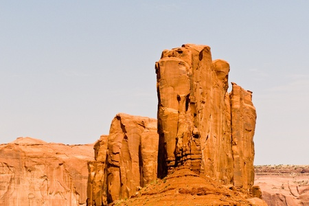 Camel Butte is a giant sandstone formation in the Monument valley that resembles a camel when viewed from the south Stock Photo - 9543496