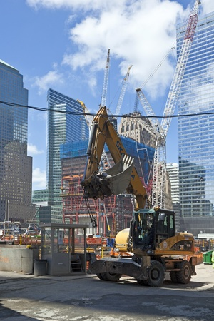 NEW YORK, USA - JULY 9: workers on construction work on Ground Zero,rebuilding the site on July 9, 2010, New York
