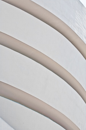 NEW YORK, USA - JULY 17: facade  of the famous Guggenheim museum with the winding construction in the afternoon on 17. Juli 2010, New York, USA