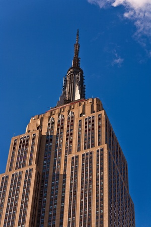 NEW YORK, USA - JULY 7: Facade of Empire State Building in the afternoon on July 7,2010 in New York, USA.