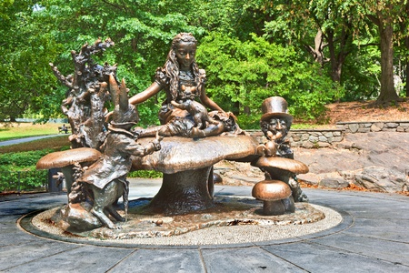 NEW YORK -JULY 11: Memorial Alice in the wonderland for Margarita Delacorte in the Cental Park by her husband on July 11,2010 in New York, USA.