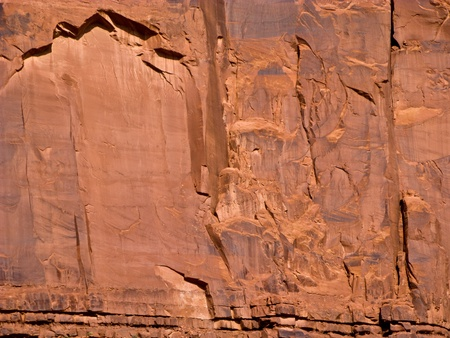 giant sandstone formation in the Monument valley in the intensive afternoon light photo