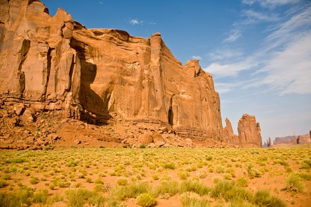The Butte is a giant sandstone formation in the Monument valley made of sandstone photo