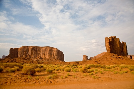 The CAmel Butte is a giant sandstone formation in the Monument valley made of sandstone photo