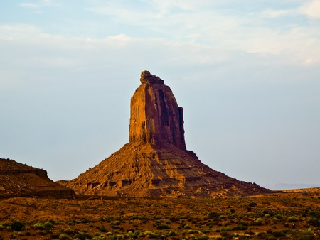 beautiful giant Buttes  are sandstone formations in the Monument valley photo