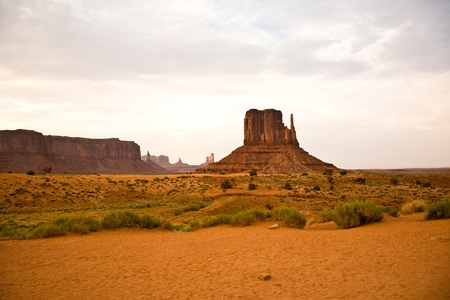 desert sunset: Striking Landscape in Monument Valley, Navajo Nation, Arizona Stock Photo