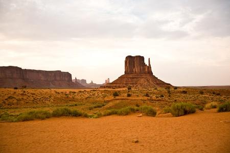 monument valley: Striking Landscape in Monument Valley, Navajo Nation, Arizona Stock Photo