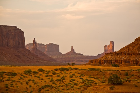Striking Landscape in Monument Valley, Navajo Nation, Arizona Stock Photo