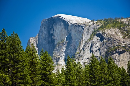famous rock formation half Dome  in the romantic valley of yosemite park Stock Photo - 9543875